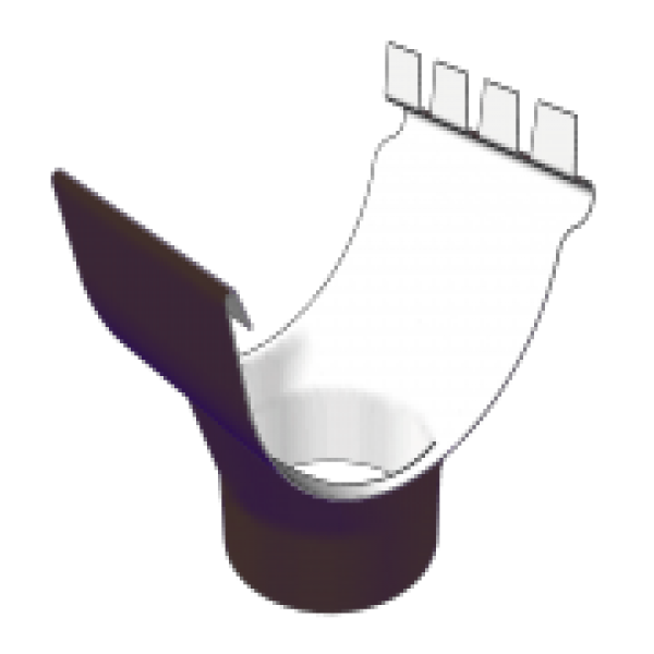 Воронка желоба D125/90